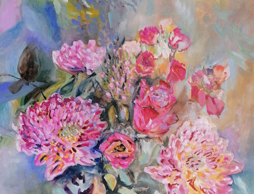 Roses and Chrysanthemums